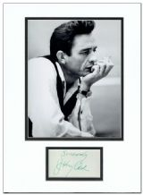 Johnny Cash Autograph Signed Display